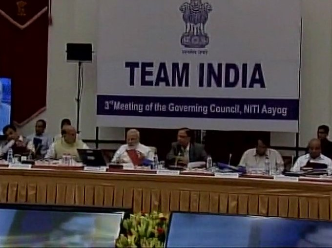 Delhi: Prime Minister Narendra Modi chairs NITI Aayog's Governing Council meeting