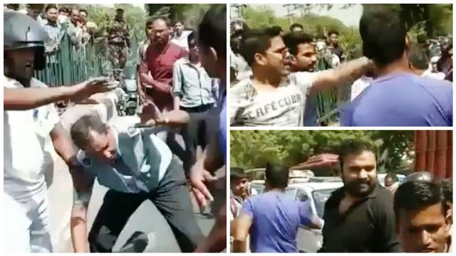 Road rage caught on camera, IAF personnel beaten up by ruffians in Delhi