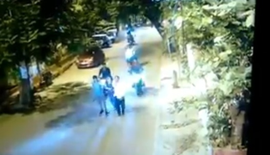 Hyderabad: Shocking CCTV footage shows two men dragging a woman on road