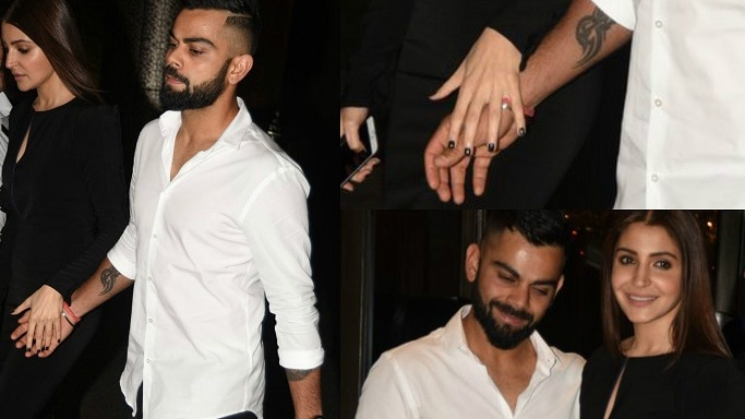 IN PHOTOS: Virat Kohli And Anushka Sharma Walk In Holding Hands At Zaheer Khan's Engagement Party