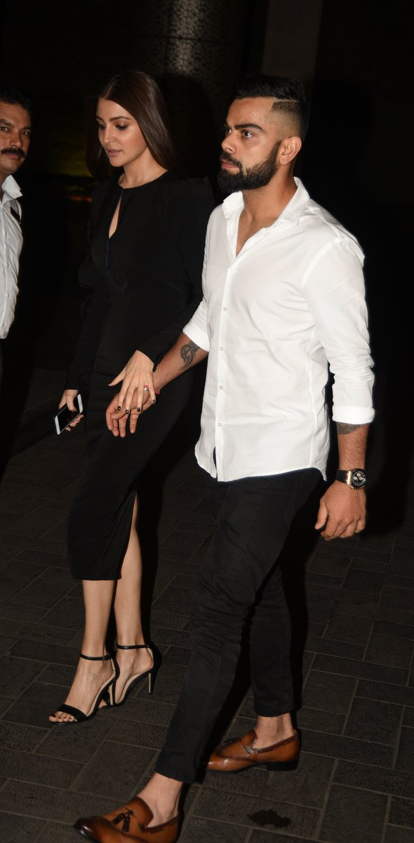 e107df9dd9 IN PHOTOS  Virat Kohli And Anushka Sharma Walk In Holding Hands At Zaheer  Khan s Engagement Party