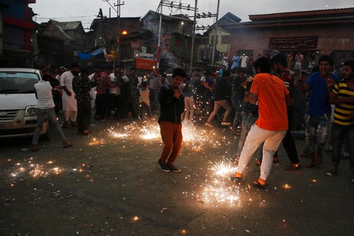 IN PICTURES: Celebrations in Kashmir after Pakistan team's victory against India