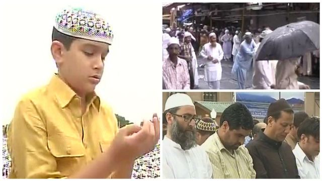Eid-ul-Fitr celebrated across India; Muslims in Mumbai perform Namaaz amid rain