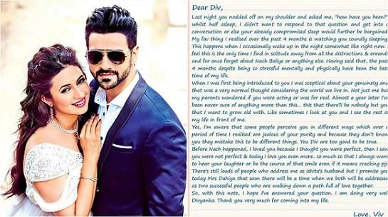 Vivek Dahiya Pens down his feelings for wife Divyanka Tripathi