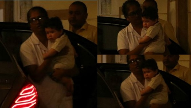 IN PICS: Taimur Ali Khan spotted! And his mom Kareena Kapoor is missing!