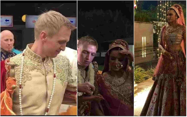 TV actress Aashka Goradia and Brent Goble get married
