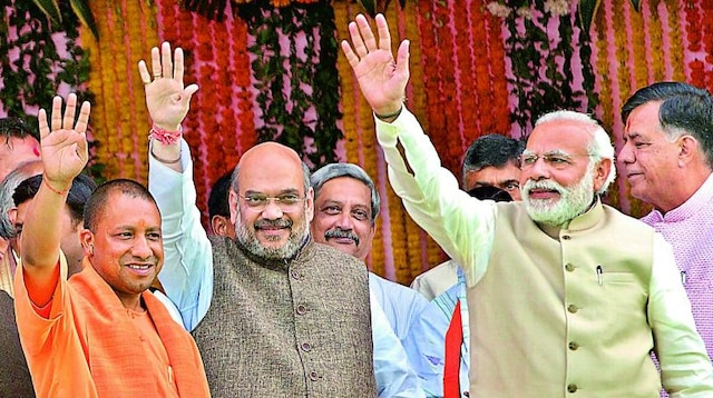 Yogi says PM Modi's policies, Shah's poll strategy led to win
