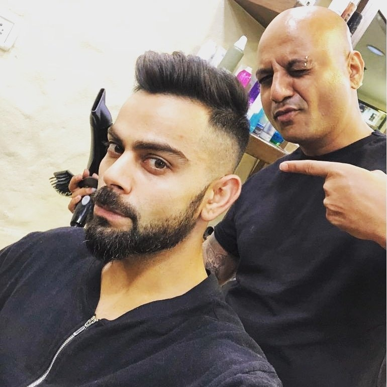 After Tattoo Virat Flaunts His New Hairstyle