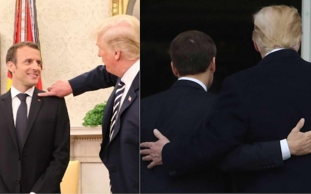Donald Trump and French Prez Emmanuel Macron's 'bromance' is breaking the internet