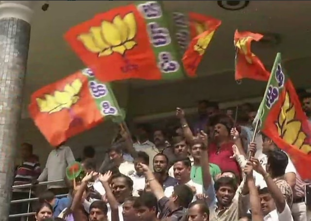 BJP celebrates in Karnataka as it gets absolute majority in election