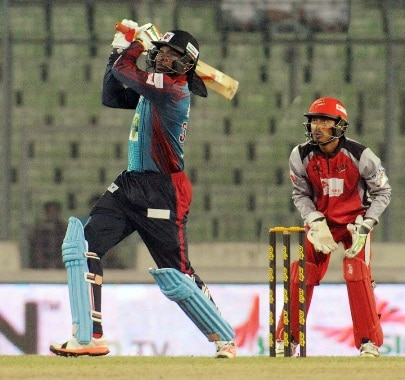 Gayle comes to his own as he scores unbeaten 92 to lead Barisal Bulls to victory
