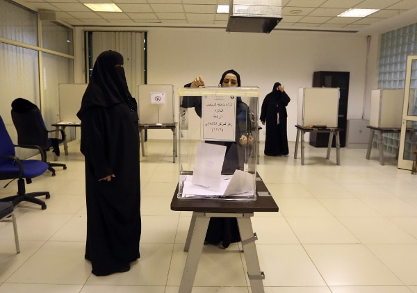 Saudi Arabia's women vote in election for first time