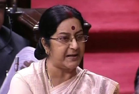 Sushma Swaraj's Statement On Pak Visit Drowned Out By Opposition Protests