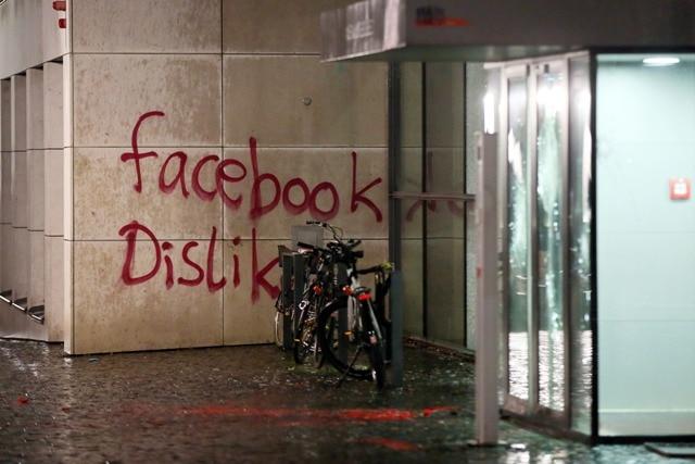 Vandals Attack Facebook Building in Germany