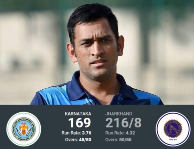 Vijay Hazare Trophy: Dhoni disappoints in Jharkhand win