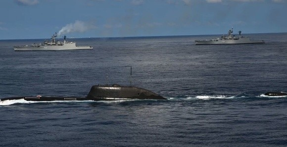 Nuclear Submarine INS Chakra took part in Navy Exercise