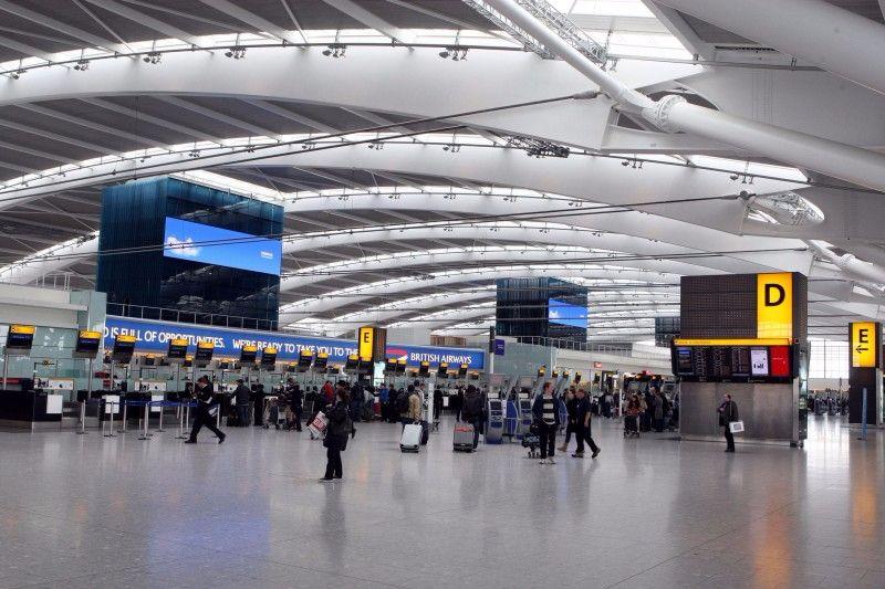 Man stabs himself in head at Heathrow airport
