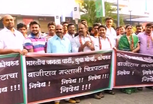 protest begins against dilwale and bajirao mastani before release