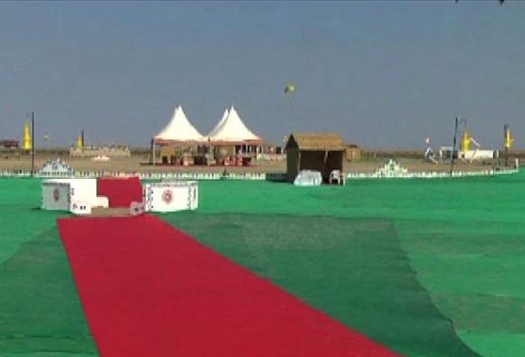 DG meet at Kutch : Bullet Proof Tent for PM Modi