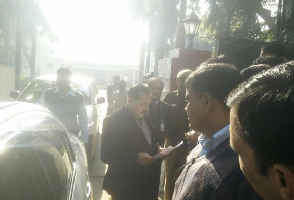 UPSC Students meet minister Jitendra Singh