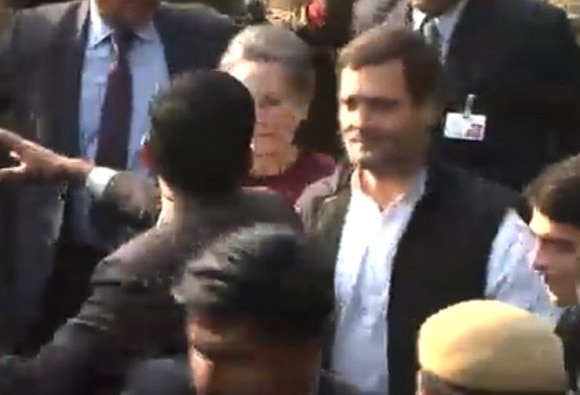 LIVE: Rahul, Sonia leave court after getting bail
