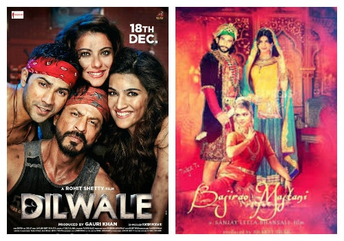 Box Office: first day collection Of 'Bajirao mastani' and 'Dilwale'