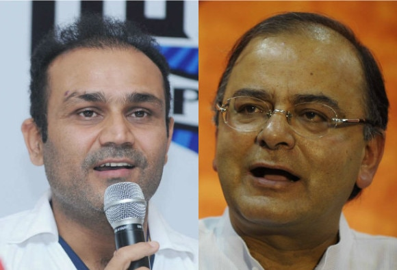 virendra sehwag came in support of arun jaitley