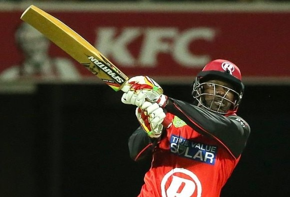 Chris Gayle's golden bat creates controversy in bbl