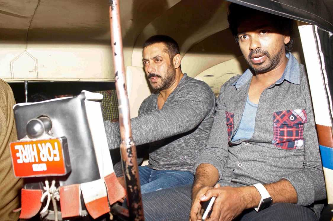 Salman Khan and Sajid Nadiadwala spotted outside a restaurant