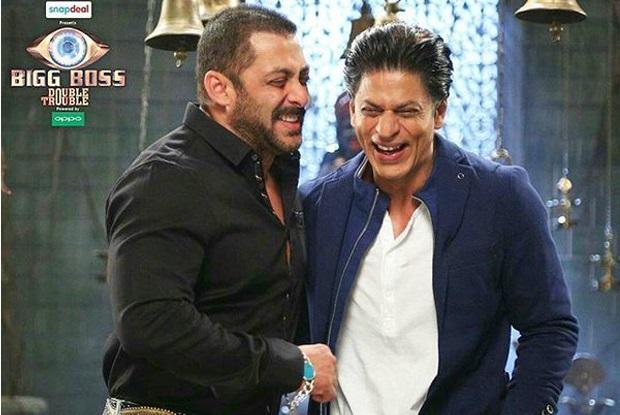 Salman-shahrukh on the set of 'Bigg Boss 9'