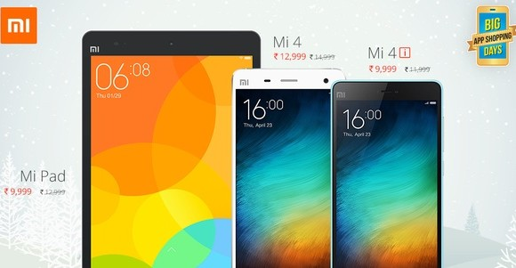 Christmas sale: Xiaomi offers discounts, exchange offers on Mi 4, Mi 4i and Mi Pad