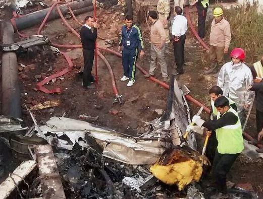 charter plane crash in Delhi, Two dead