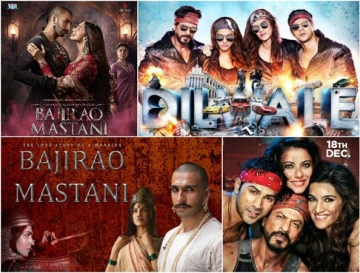 dilwale vs bajirao mastani on box office