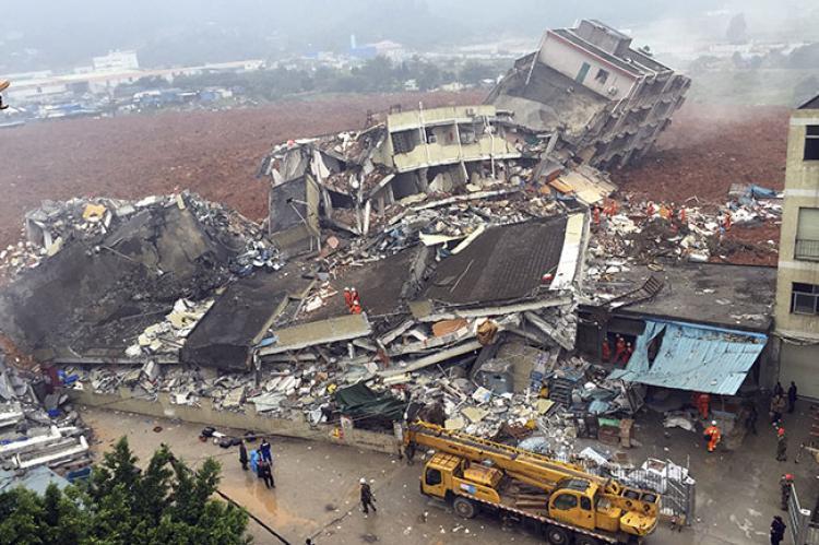 china industrial park landslide