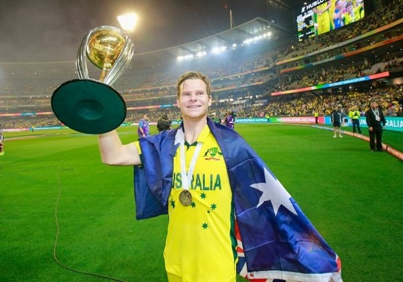 Steve Smith wins the Sir Garfield Sobers Trophy for ICC Cricketer of the Year 2015