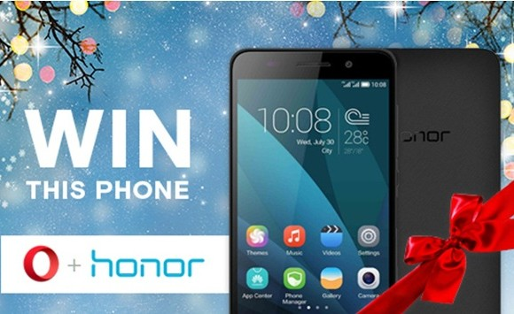 Participate in the Opera + Honor 4X Christmas Giveaway Contest and win big!