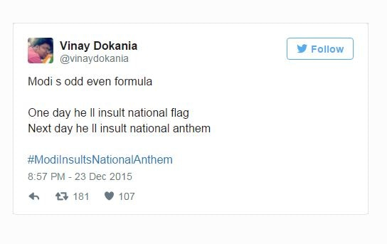 national antham insult by pm: trolls take heavy toll on twitter