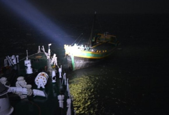 Coast Guard Rescues Eight Crew Members of Distressed Ship