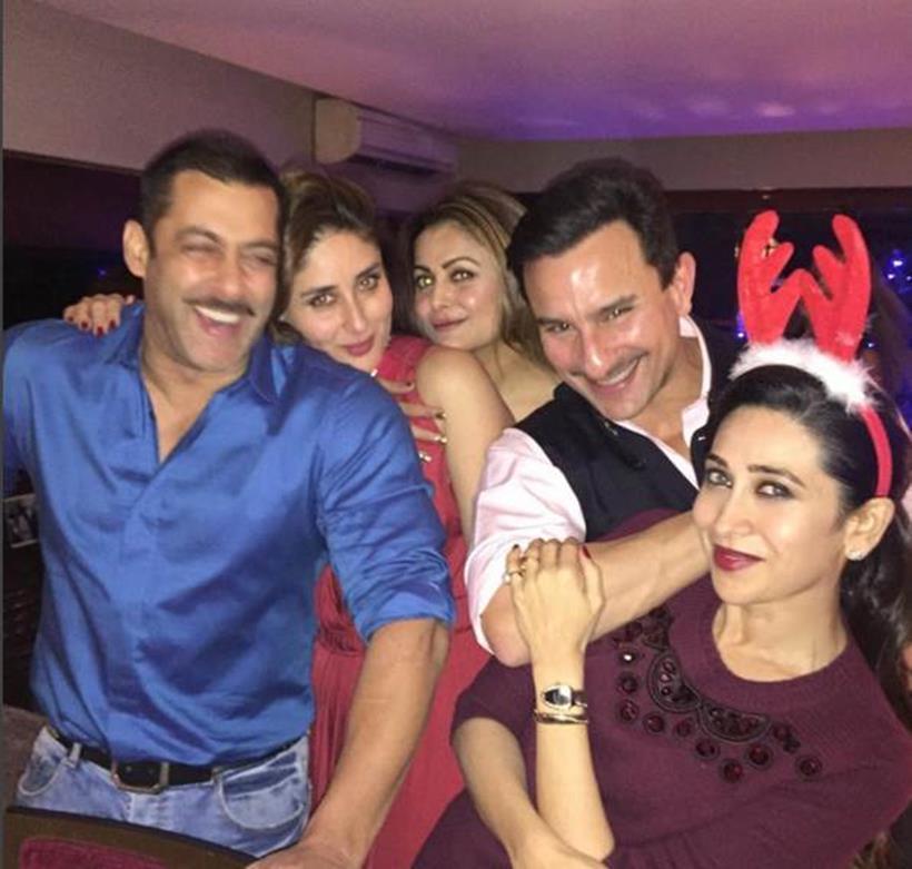 Salman Khan Christams Party with Kareena and saif