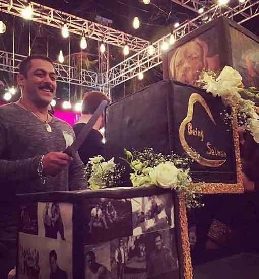 Check Out Salman Khan's Massive Three-Tier 50th Birthday Cake!