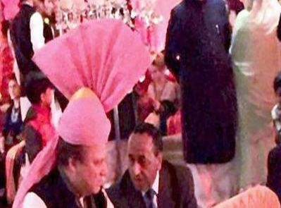 At granddaughter's wedding, Sharif wears turban gifted by Modi
