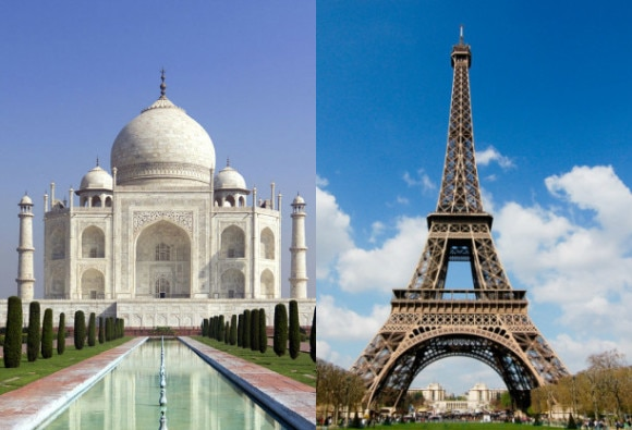 Eiffel Tower joins Twitter and receives a warm welcome from Taj Mahal