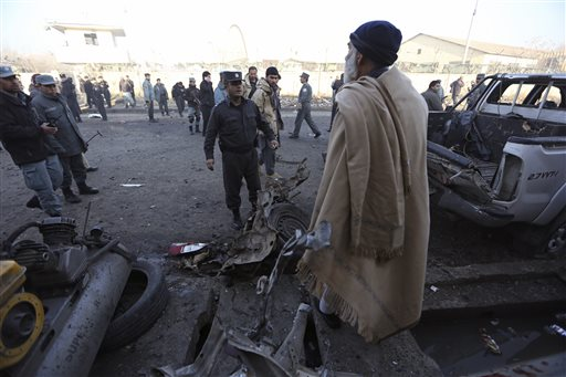 one dead & four wounded in a blast near Kabul Airport