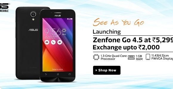 Asus ZenFone Go 4.5 Android Smartphone Launched at Rs. 5,299