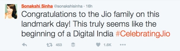 copy paste tweets of celebs during reliance jio launch