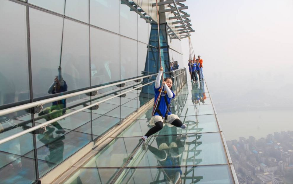 chinese people enjoying such adventure in the new year