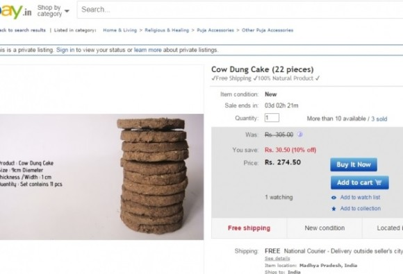 Cow dung patties selling like hot cakes online in India