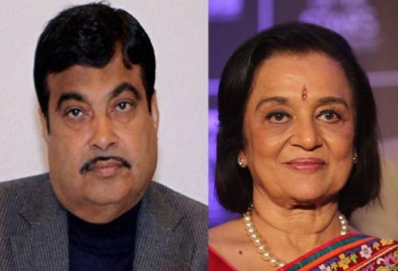 Gadkari claims, asha parekh was asking for padmabhushan