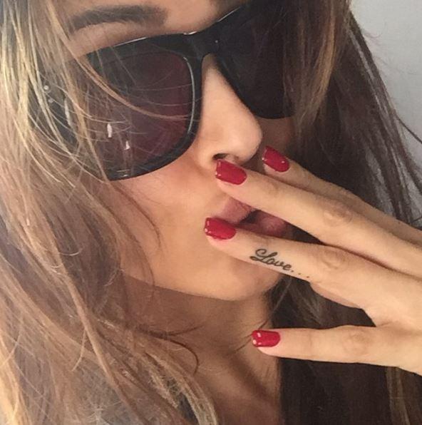 malaika falunts her fourth tattoo on insta