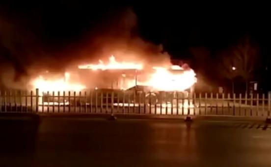 northwest China bus fire